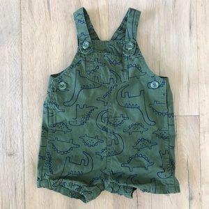Carter's Green Dinosaur Overalls